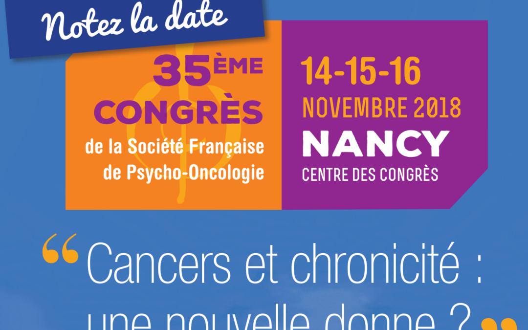 Congrès de la SFPO – 14, 15 et 16 novembre 2018 – Nancy,