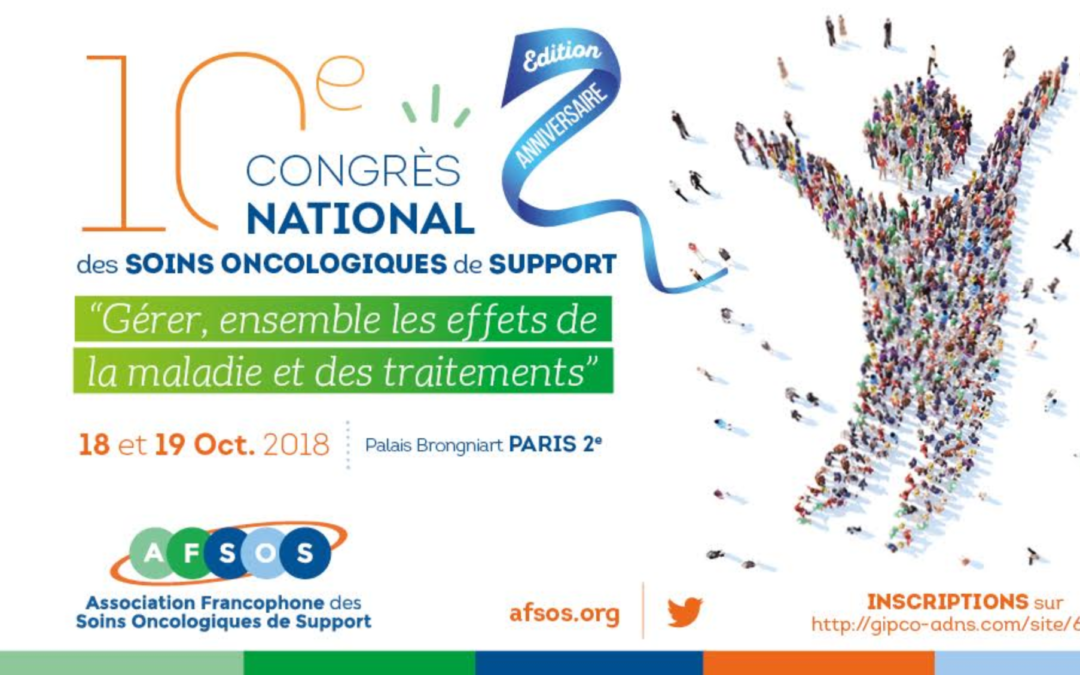 10e congrès national de l'AFSOS – 18 et 19 octobre 2018 – Paris
