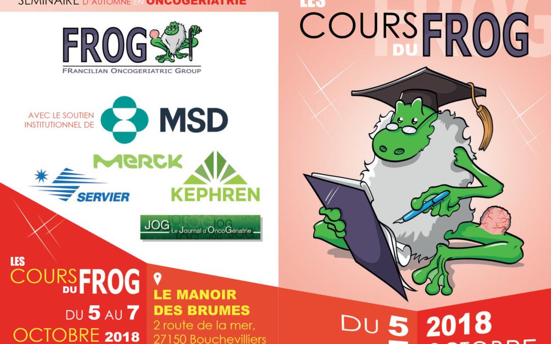 Les cours du FROG – 5 au 7 octobre 2018